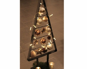 Black Christmas tree Precious fir metal shiny