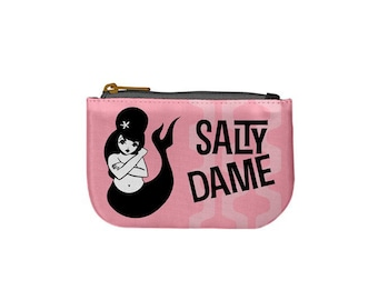 Salty Dame mermaid coin purse