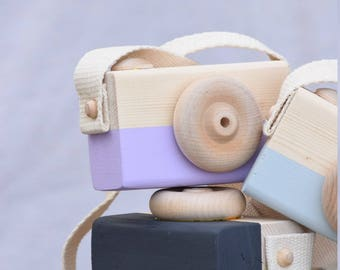 Toy camera, wood camera, camera, photographer, lens, play camera, pretend play, toddler toys, stocking stuffer, birthday