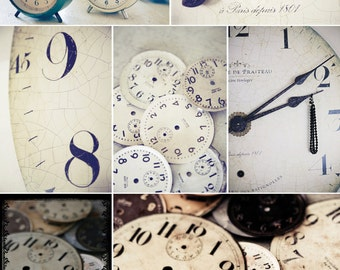 clocks postcard set