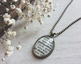 godmother necklace - godmother gift - godmother - fairy godmother - baptism gift - gift for godmother - godparents - gift for her