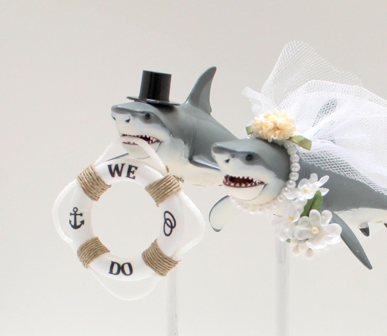 Shark Wedding Cake Topper Beach Wedding Cake Great White