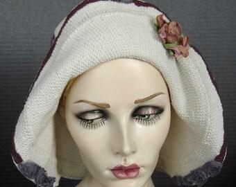 Flapper Style 1930 Cotton Crochet Hat On Sale