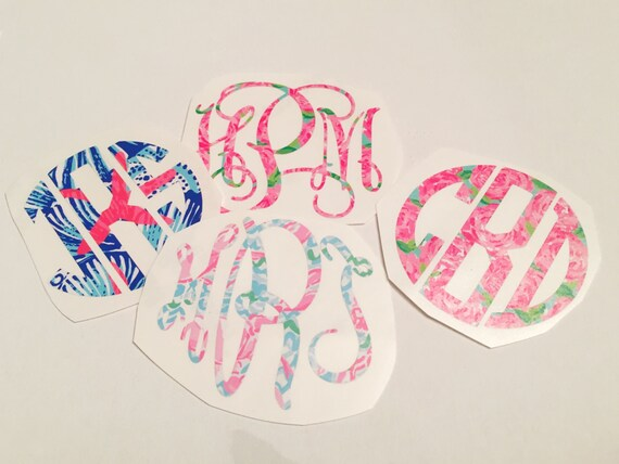 Lilly Pulitzer Monogram Decal - Choose Your Size & Pattern