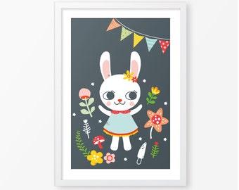 Kids poster,animal print,children wall art,nursery wall art,instant download,kids room decor,digital kids poster,nursery decor, baby poster