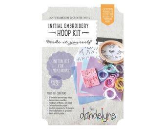 Starter Kit mini wood 7.6 cm PASTEL - Dandelyne embroidery hoop