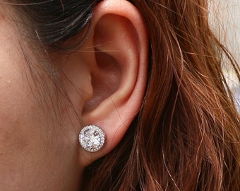 cz products flurry luscious earrings next mykay snow stud prongs diamond silver