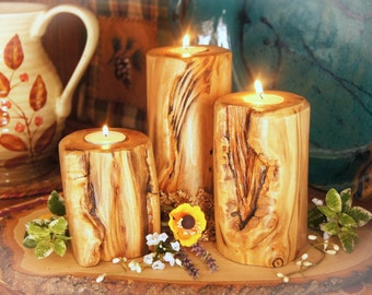 A Taste of the Rockies!/Easter Centerpiece/ Wood Candle/ Rustic Centerpiece/Rustic Easter Centerpiece/ Wedding Gift