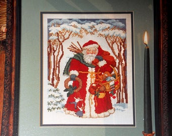 Santa Claus Cross Stitch Pattern, Father Christmas Santa Pattern, Santa Cross Stitch, Santa Pattern, Christmas Pattern NewYorkTreasures