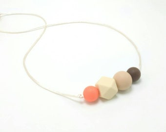 Silicone Teething Necklace | Nursing Necklace | Teething Necklace for Mom to Wear | Babywearing | Baby Shower Gift | Silicone Teether | Baby