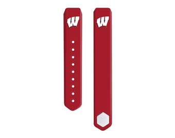 University of Wisconsin Badgers 3 Piece Silicone Sport Band Fits FitBit Alta™ - Officially Licensed