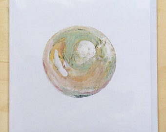 Single pearl greetings card