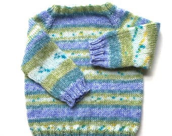 6 months Fair Isle Sweater in Blue and Green
