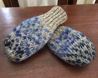 wool roving mittens