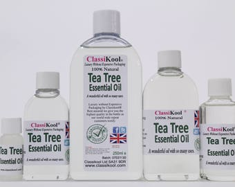 Classikool Tea Tree Oil 100% Pure Essential Aromatherapy Massage Add to Carrier Oil