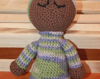 Crocheted Sleeping Baby Doll