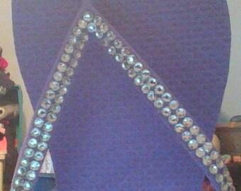 Purple crystal flip flops size 5