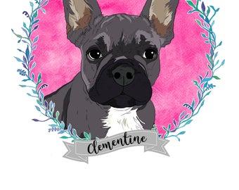 Pet Portrait Illustration, Custom Pet Portrait, Portrait Illustration, Custom Pet Illustration, Custom Pet Art, Portrait Printable