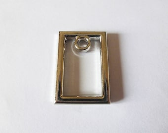 2 charms rectangle geometric 27 * 19mm old silver (SFAV05)