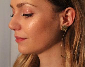 """""""Aurum"""" ring earrings with Swarowski crystals"""