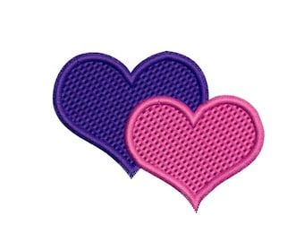 Embroidery Designs Two Hearts Hearts