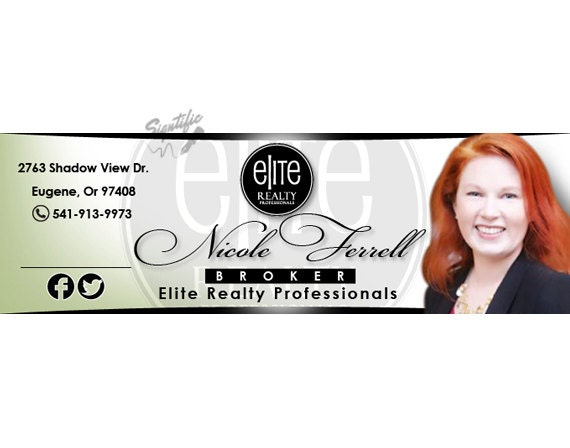 Realtor e-mail signature in your colors, unique name logo with a photo, professional business signature, real estate agent email design