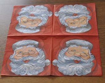 Santa Claus head paper towel
