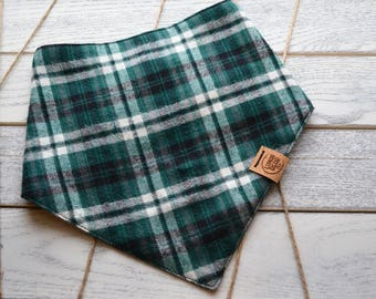 Hunter_ Plaid Dog Bandana