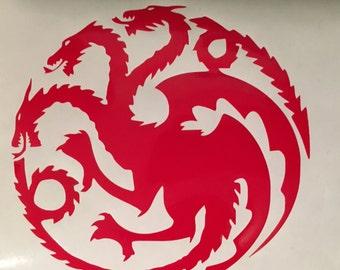 Game of Thrones House Targaryen Vinyl Decal