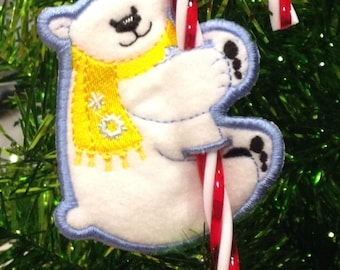 Bear Candy Cane Holder