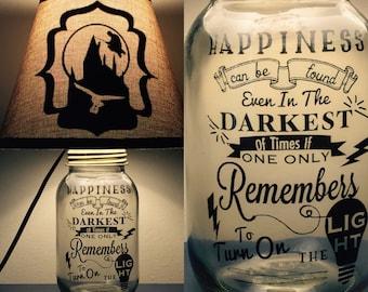Harry Potter Inspired Mason Jar Lamp