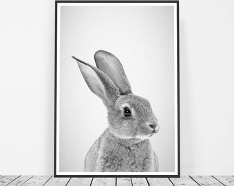 Rabbit Print, Bunny Print, Nursery Print, Kids Room Art, Kids Wall Art, Kids Room Decor, Woodland Nursery Wall Art, Rabbit Nursery Art