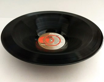 "Elvis Presley Smooth Vinyl Record Bowl Hand Made from Upcycled Record ""Love Songs"""