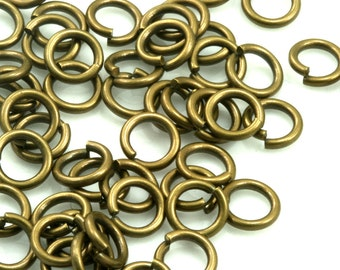 Open jump ring 50 pcs  17 mm 15 gauge( 1,5 mm ) antique brass jumpring 1715JA-45 1181AB