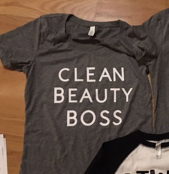 Clean Beauty Boss graphic tshirt, mom clothes, womens t shirt