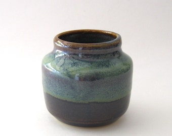 Ikebana Bottle Shape Vase with Pin Frog - Ponderosa Glaze