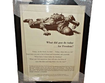 What did you do today for freedom ? WWII Civilian Poster