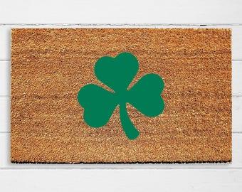 Shamrock Welcome Doormat | St. Patrick's Day Decor | Welcome Mat | Irish Decor | Irish Doormat | Home Decor | 18x30 | Urban Owl