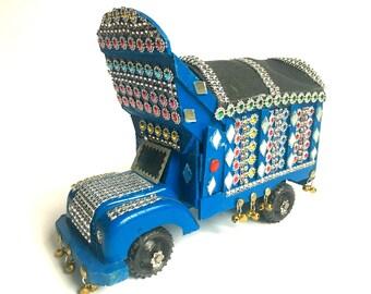 Blue Truck Handmade Southeast Asia Pakistani/Afghani Truck, Customized freight truck traditional