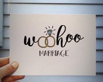 Woohoo Marriage Card