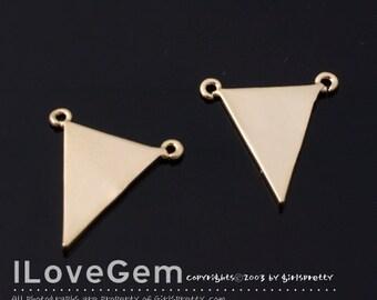 2pcs, NP-1489 Gold plated, Triangle Pendant, Geometric Necklace Pendant