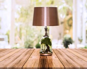 Table lamp, table lamp shade, bell jar lamp, Bedside table lamp, lamp, bedside lamp, Lamp shade, Dome lamp, Desk lamp, Glass dome lamp,
