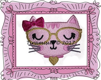 Fancy Cat Designs - 4 sizes for Machine Embroidery Hoop