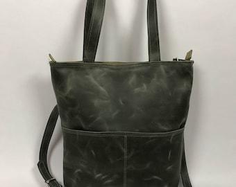 Learn green shoulder bag