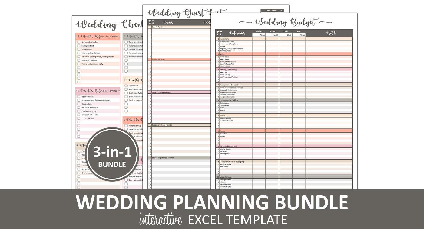 Pfirsich Hochzeit Bundle Hochzeit Planung druckbare