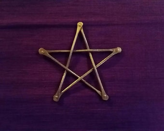 Copper Pentacle aprox 4 inches across
