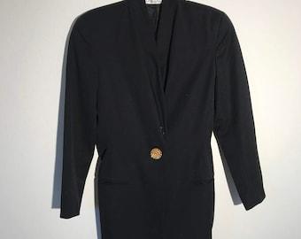 Vintage Nineties Blazer // 1990s Oversized Coat // 90s Oversized Long Jacket 8