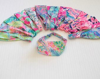 Preppy Wide Lilly Pulitzer Colorful Fabric Wrap Headband Many Prints