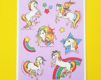 Vintage Hallmark RAINBOW BRITE Stickers Sheet