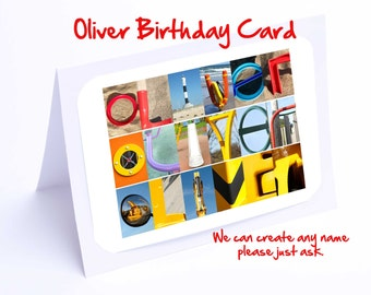 Oliver Personalised Birthday Card